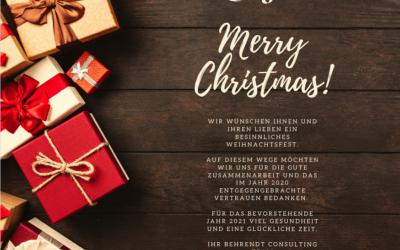 Wir wünschen Ihnen Frohe Weihnachten und einen guten Rutsch ins neue Jahr